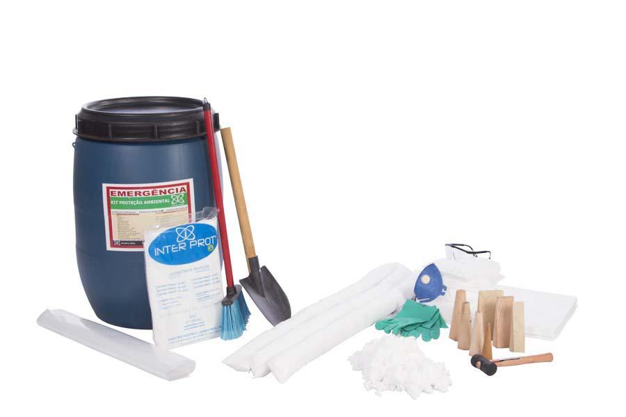 Kit para derramamento de produtos químicos